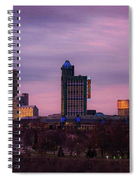 Purple Haze Skyline Spiral Notebook