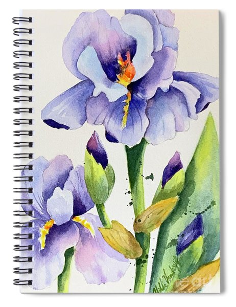 Purple Iris And Buds Spiral Notebook