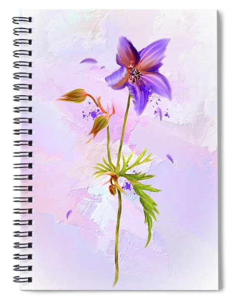 Purple Petals Spiral Notebook