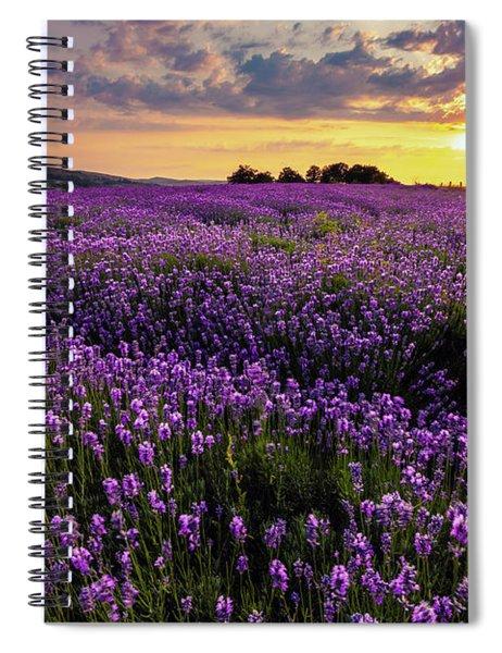 Purple Sea Spiral Notebook