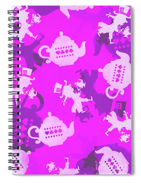 Purple Tea Party Spiral Notebook