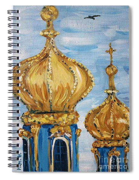 Pushkin Palace Towers Spiral Notebook by Maria Langgle