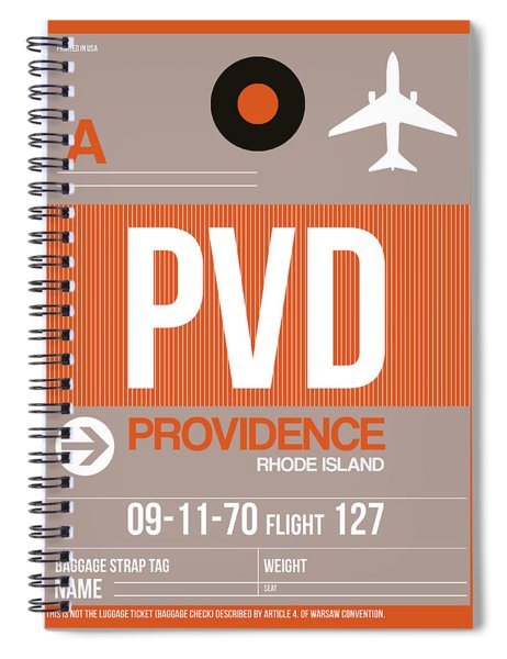 Pvd Providence Luggage Tag II Spiral Notebook