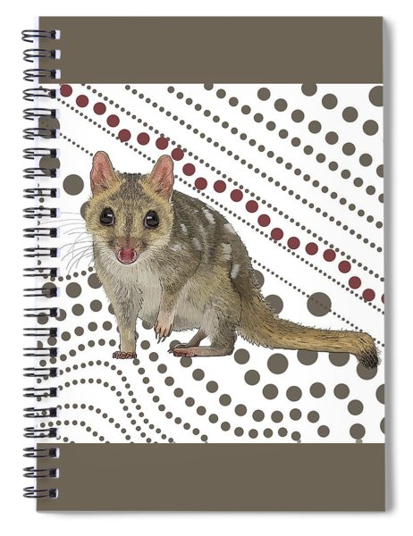 Q Is For Quoll Spiral Notebook