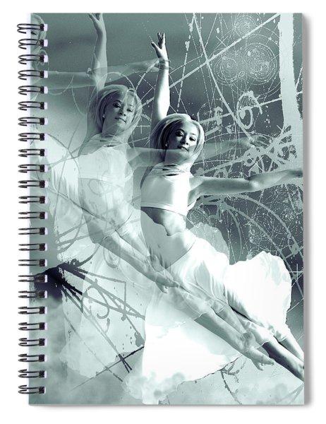 Quantum Leap Dancer Spiral Notebook