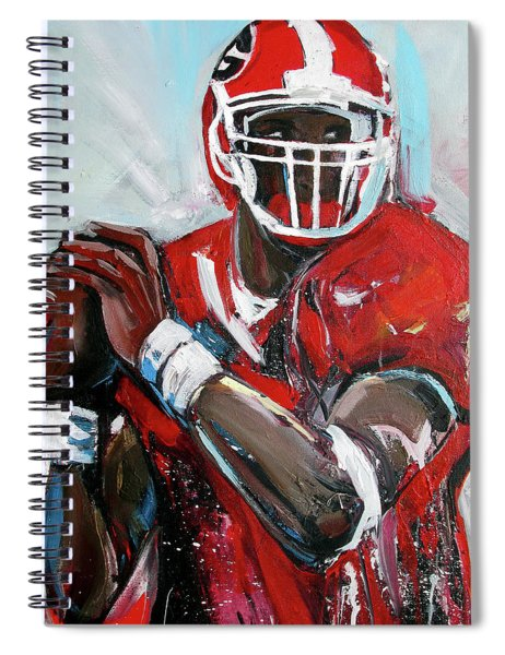 Quarterback Spiral Notebook