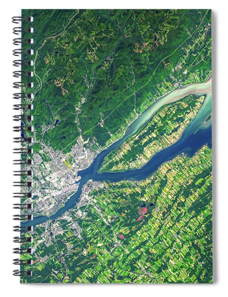 Quebec City From Space Spiral Notebook