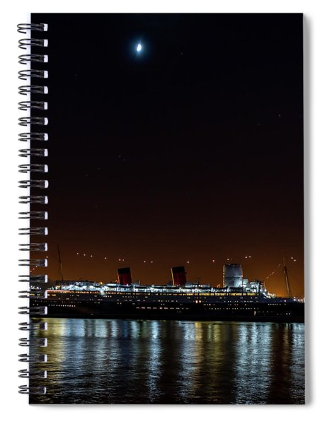 Queen Mary And The Moon - Square Spiral Notebook