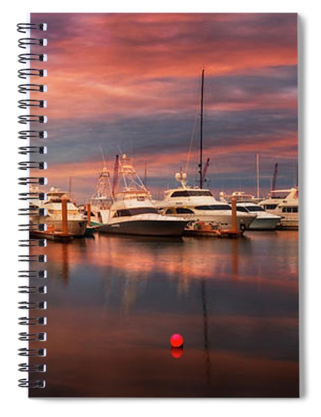 Quiet Evening On The Marina Spiral Notebook