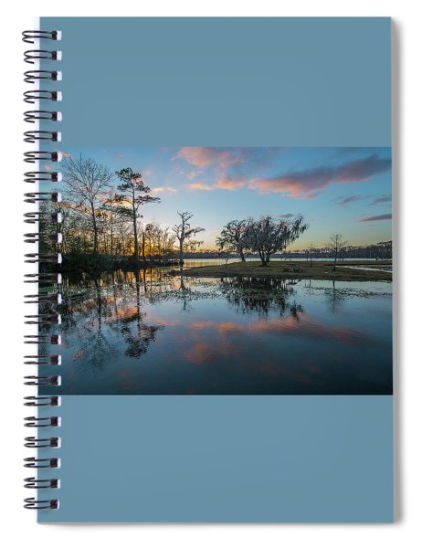Quiet River Sunset Spiral Notebook