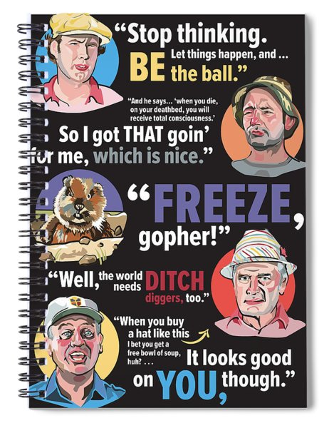 Quotable Caddyshack Spiral Notebook