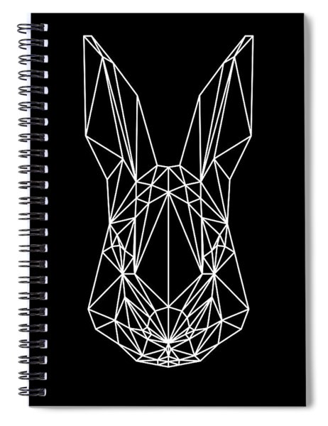 Rabbit On Black Spiral Notebook