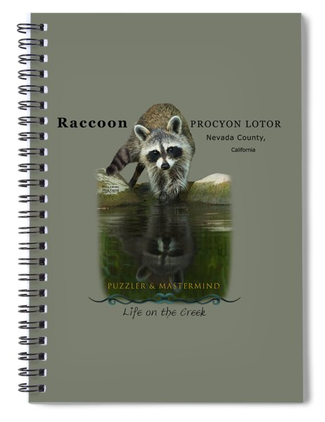 Raccoon Puzzler And Mastermind Spiral Notebook