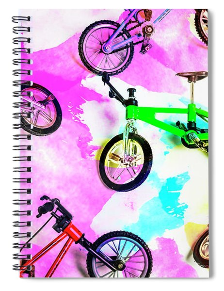Racing Colours Spiral Notebook