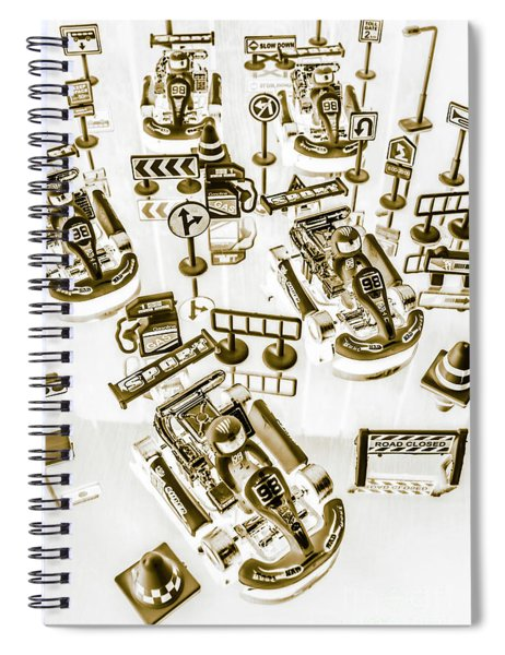 Racing Karts Spiral Notebook