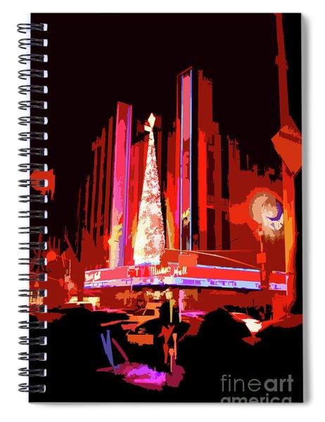 Radio City Music Hall Abstract Spiral Notebook