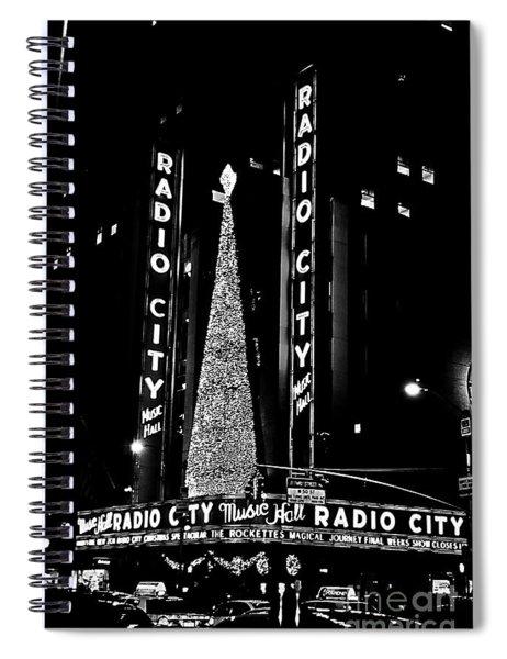 Radio City Music Hall - B/w Spiral Notebook