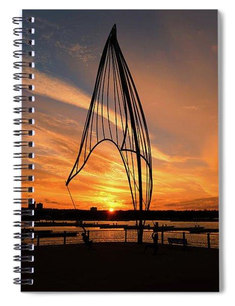 Rafaga Unleashed Sunset Spiral Notebook