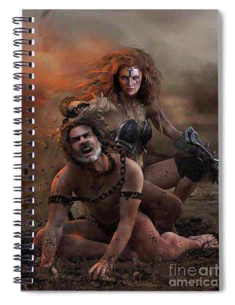 Ragna Norse Warrior Woman Spiral Notebook