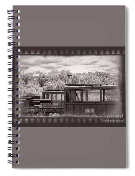Railroad Cars Spiral Notebook
