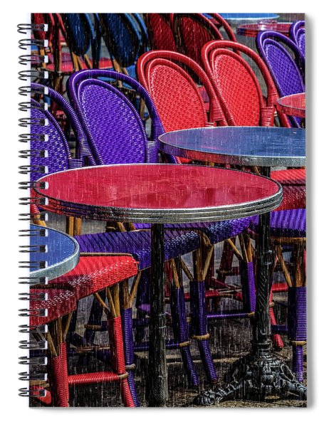 Rain On Paris Tables Spiral Notebook