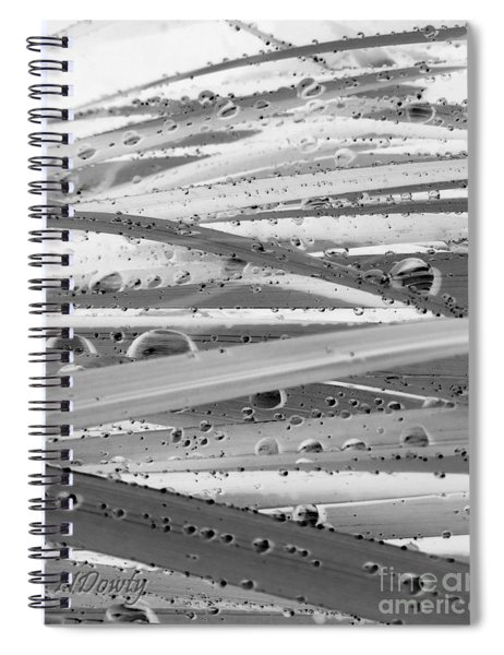 Rain On Siberian Iris Spiral Notebook