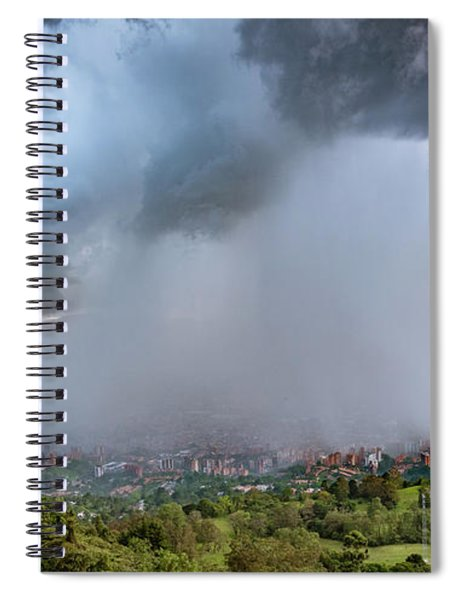 Rain Storm Over Medellin Spiral Notebook