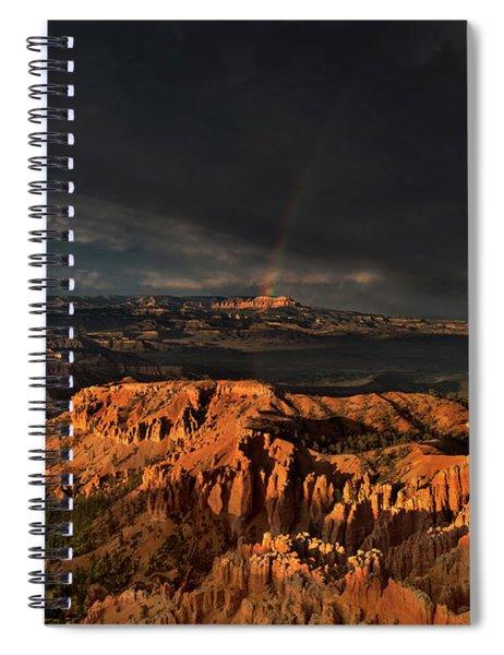 Rainbow And Thunderstorm Over The Paunsaugunt Plateau  Spiral Notebook