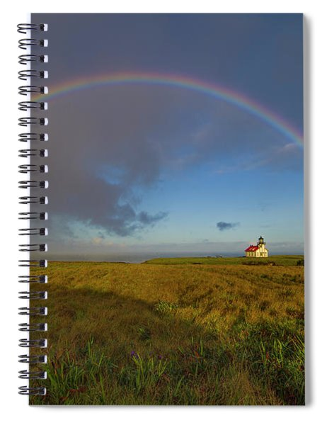 Rainbow At Point Cabrillo Spiral Notebook