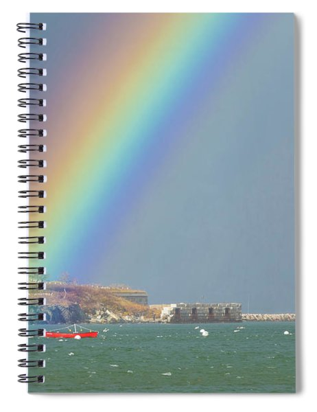 Rainbow At Spring Point Ledge Spiral Notebook