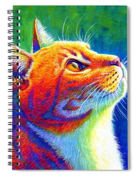 Rainbow Cat Portrait Spiral Notebook