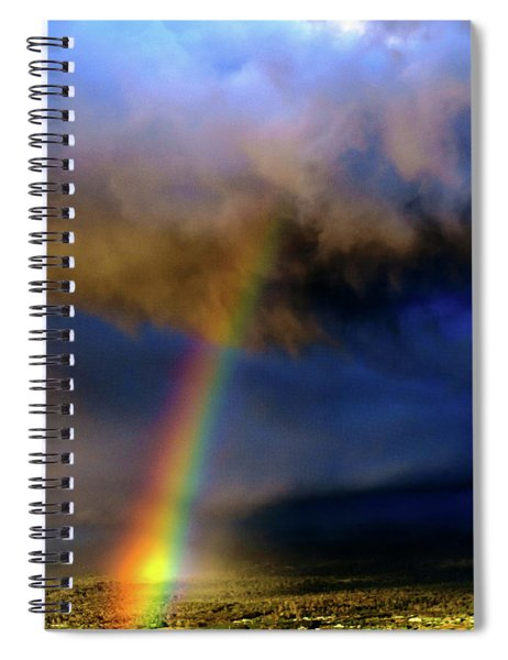 Rainbow During Sunset Spiral Notebook