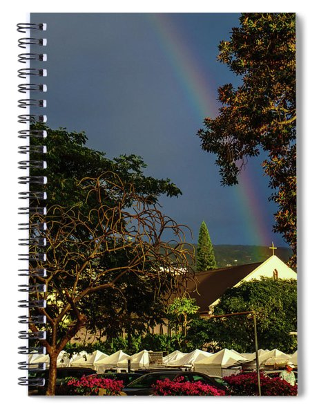 Rainbow Ended At The Church Spiral Notebook