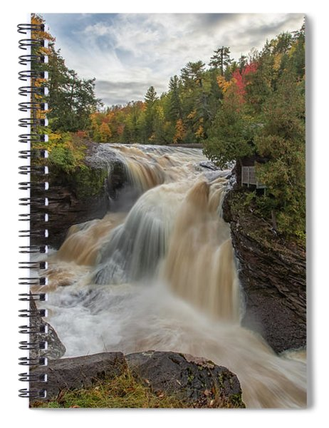 Spiral Notebook featuring the photograph Rainbow Falls 1 by Heather Kenward