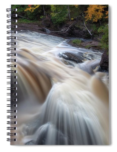 Spiral Notebook featuring the photograph Rainbow Falls 3 by Heather Kenward
