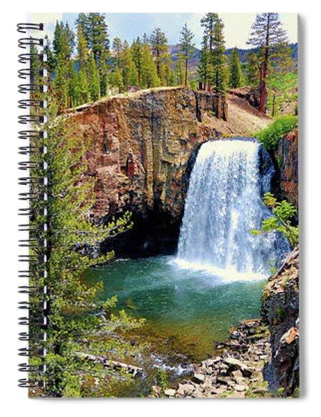 Rainbow Falls Panoramic Spiral Notebook