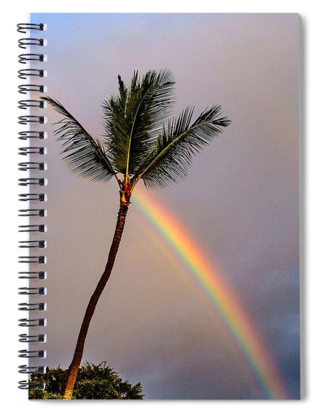 Rainbow Just Before Sunset Spiral Notebook