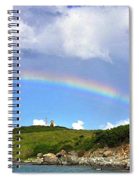Rainbow Over Buck Island Lighthouse Spiral Notebook