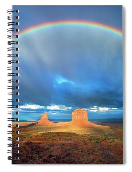 Rainbow Over The Mittens Afternoon Spiral Notebook