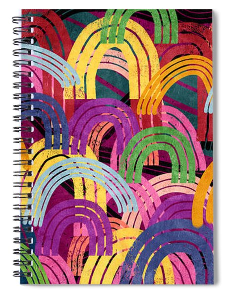 Rainbow Party- Art By Linda Woods Spiral Notebook
