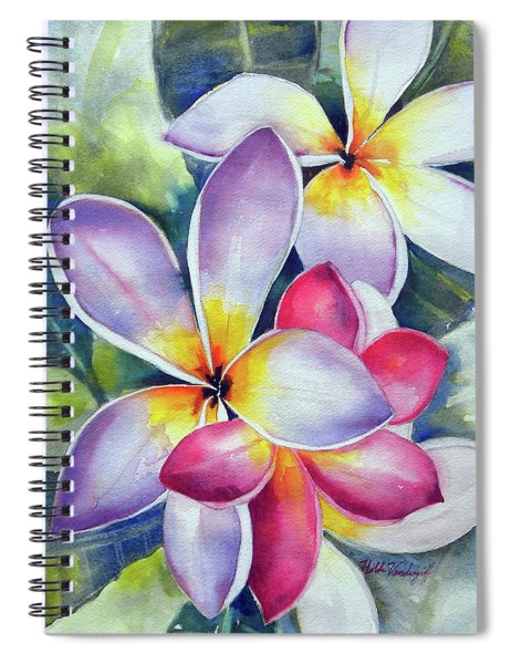 Rainbow Plumerias Spiral Notebook