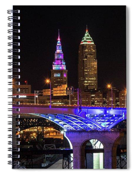 Rainbow Tower In Cleveland Spiral Notebook