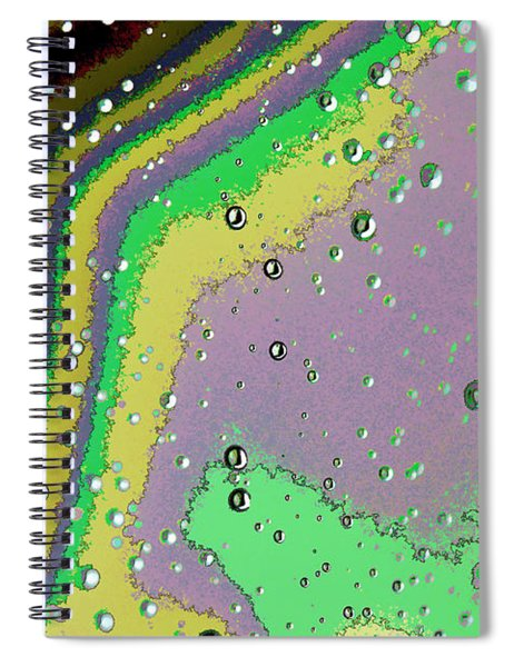 Raindrops 4 Abstract Spiral Notebook