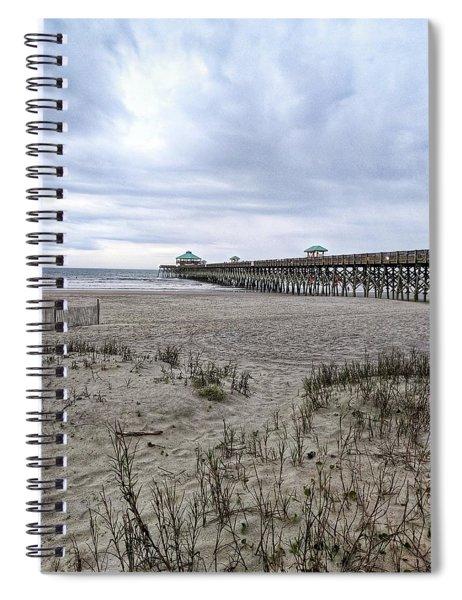 Rainy Beach Day Spiral Notebook