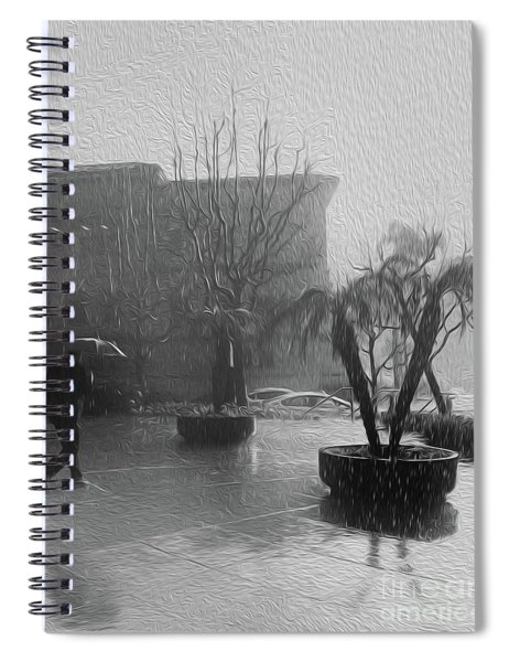 Rainy Day In L.a. Spiral Notebook