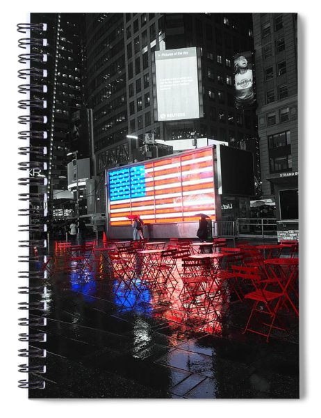 Rainy Days In Time Square  Spiral Notebook