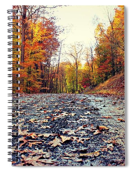 Rainy Fall Roads Spiral Notebook