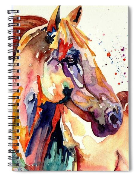 Rainy Horse Spiral Notebook