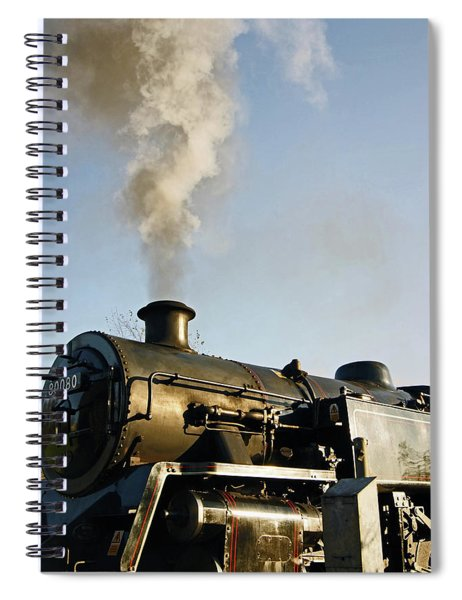 Ramsbottom. East Lancashire Railway. Locomotive 80080. Spiral Notebook