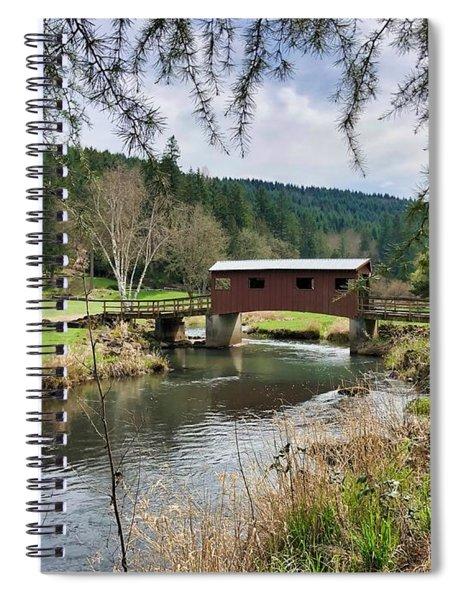 Ranch Hills Covered Bridge Spiral Notebook